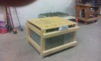 Упаковка товара в деревянный ящик для солнечных панелей